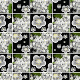 Seamless pattern with retro floral elements texture Royalty Free Stock Photo