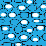 Seamless pattern retro glasses Royalty Free Stock Image