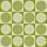 Seamless pattern in retro green colors Royalty Free Stock Photography