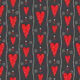 Seamless pattern with retro hearts Stock Photos