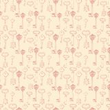 Seamless pattern with retro keys Royalty Free Stock Photo