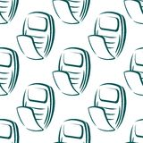 Seamless pattern of a retro mobile phone Stock Photography