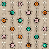 Seamless pattern with retro ornamental elements background Royalty Free Stock Photography