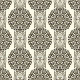 Seamless pattern with retro ornamental elements texture backgrou Royalty Free Stock Photo