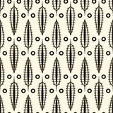Seamless pattern with retro ornamental elements texture backgrou Stock Images