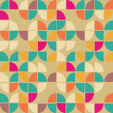 Seamless pattern in retro style. Disco vintage background. stock illustration