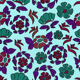 Seamless pattern in retro style with flowers. Vector/ EPS 10. Seamless pattern in retro style with flowers. Illustration in the style of hand-drawn printing on royalty free illustration
