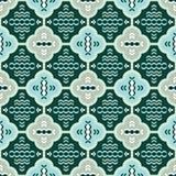 Seamless pattern in retro style. Seamless green and gray pattern in retro style Stock Photography
