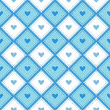 A seamless pattern with rhombs and hearts. Stock Photo
