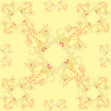 Seamless pattern - rhombus with a lily on a bright background. v Royalty Free Stock Photography