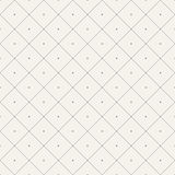 Seamless pattern with rhombuses and dots. Royalty Free Stock Photo