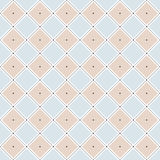 Seamless pattern with rhombuses and dots. Vector seamless pattern. Modern stylish texture. Repeating geometric tiles with rhombuses made of lines and dots Stock Photos