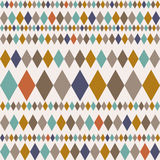 Seamless pattern with rhombuses. Modern stylish texture. Geometric ornament with colorful rhombuses. Use for wallpaper, cloth desi Stock Image