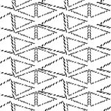 Seamless  pattern  rhombuses in the style of tribal Royalty Free Stock Photography