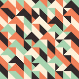 Seamless pattern with rhombuses and triangles. Stock Photos