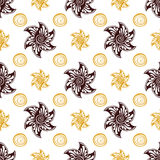 Seamless pattern rich dear background. Royalty Free Stock Photo
