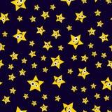 Seamless pattern ridiculous stars Stock Photos