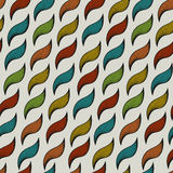 Seamless pattern with ringlets Royalty Free Stock Photos