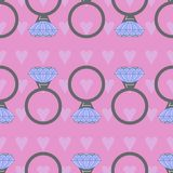 A seamless pattern with rings. royalty free illustration