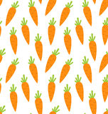 Seamless Pattern with Ripe Carrots Stock Photos