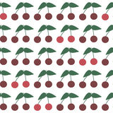 Seamless Pattern with Ripe Cherries. Summer Cherry Stock Photos