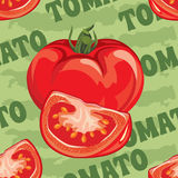 Seamless pattern of ripe red tomato Stock Image