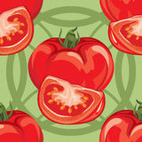 Seamless pattern of ripe red tomato Royalty Free Stock Image