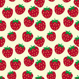 Seamless pattern with ripe strawberries Royalty Free Stock Image