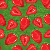 Seamless pattern of ripe strawberries Royalty Free Stock Images