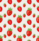 Seamless Pattern of Ripe Strawberry Royalty Free Stock Photo