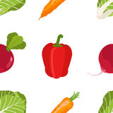 Seamless pattern of ripe vegetables from the garden. Red pepper, stock photography