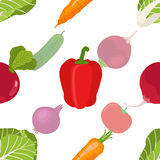 Seamless pattern of ripe vegetables from the garden. Red pepper, royalty free stock photos