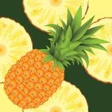 Seamless pattern of ripe yellow pineapple Royalty Free Stock Photos