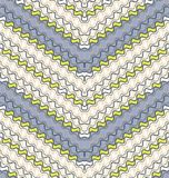 Seamless pattern of a ripple stripes. Royalty Free Stock Image
