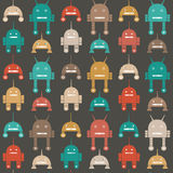 Seamless pattern of robots Royalty Free Stock Image