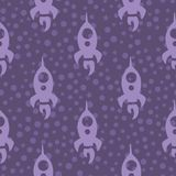 Seamless pattern with rockets Royalty Free Stock Photography
