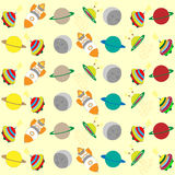 Seamless pattern with rockets. Stock Images