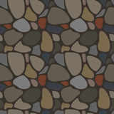Seamless pattern with rocks Stock Image
