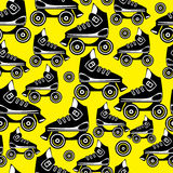 Seamless pattern roller skates Stock Images