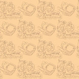 Seamless pattern with roller skates Royalty Free Stock Photos