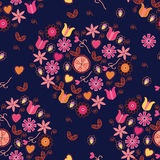 Seamless pattern with romantic hearts Royalty Free Stock Photo