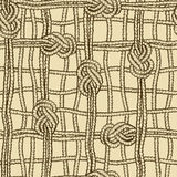 Seamless pattern of ropes grid with marine knotes Royalty Free Stock Image