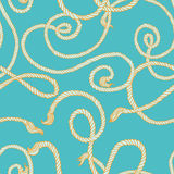 Seamless pattern with ropes Stock Photo