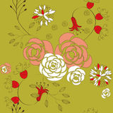 Seamless pattern with rose Stock Photography