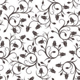 Seamless pattern with rose buds. Royalty Free Stock Photos