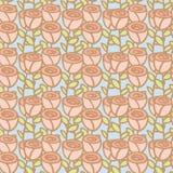 Seamless pattern of rose flower Royalty Free Stock Image