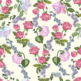 Seamless pattern with rose flowers. Decorative floral design , seamless pattern royalty free illustration
