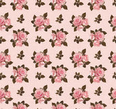 Seamless pattern with rose flowers Royalty Free Stock Photos