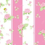 Seamless pattern rose on pink Stock Photo