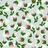 Seamless pattern with rosebuds. Stock Image